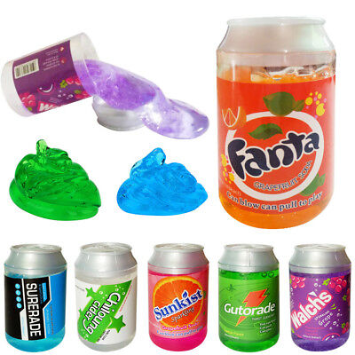 Cans Flash powder Clear Slime Scented Stress Relief Toy Sludge Toys Gifts