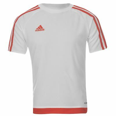 adidas Kids 3 Stripe Estro T-Shirt Junior Boys Short Sleeved Tee Top age 7-13 W/