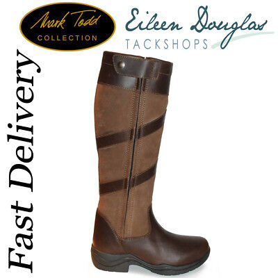 Mark Todd Waterproof Tall Zip Boots Country Yard Boots