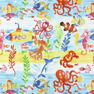 Prestigious Textiles - Under The Sea - Marine - Fabric Remnant - Price Per Metre