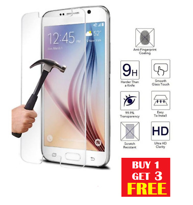 100% Genuine Tempered Glass Screen Protector For Samsung Galaxy S7 BUY1 GET3