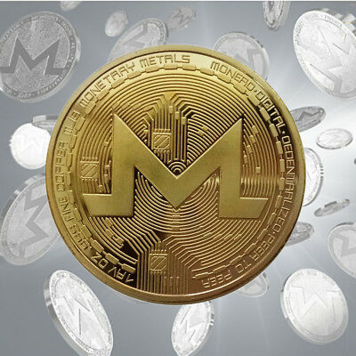 Monero XMR Commemorative Souvenir Coin Round Collection Gift Gold Silver 38mm