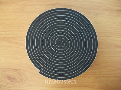 Black Double Sided Adhesive Foam Tape Draught Excluder Window Door Car Craft