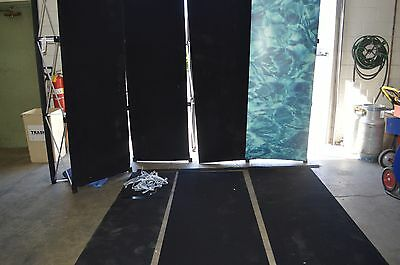 Pop-Up Display Trade Show Booth 6 Panels w/ Hard Case and 2 Pop-Up Frames Black