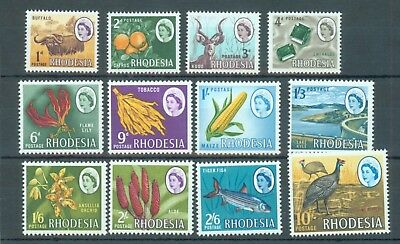Rhodesia 1966 part set of 12 values to 10/- MNH