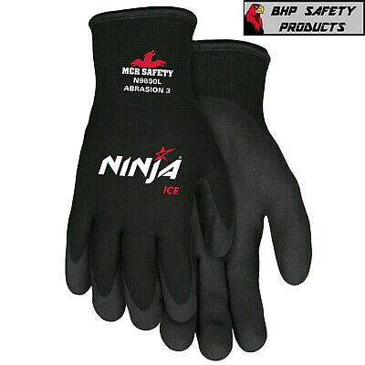 Mcr Memphis Ninja Ice Insulated Cold Winter Weather Safety Work Gloves N9690