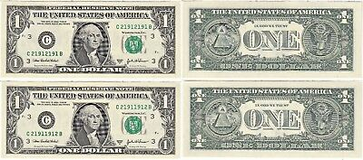 2003 A $1 Philadelphia District 3 Digit Radar & Repeater Set Matching Numbers