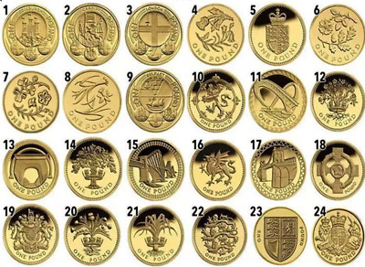 1983 To 2015 £1 Coin Rare One Pound All Years Availble