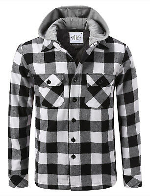 Shaka Men's Flannel Hooded Jacket