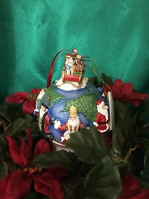 Christopher Radko Santas Around the World Christmas Tree Globe Sleigh Ornament