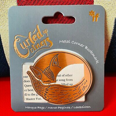 Curled Up Corners - Metal Bookmark - Furled Fox