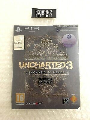 UNCHARTED 3 SPECIAL EDITION PS3 Playstation 3 Pal ITA