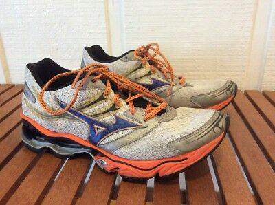 detailed look 43f30 f1271 Mens Mizuno Wave Creation 14 Shoes Size 9.5 Blue Orange Running Cross  Training