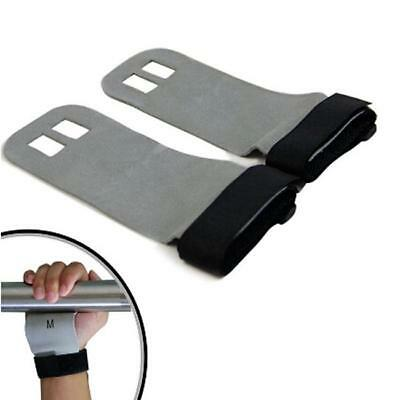 Leather Hand Crossfit Grip Gymnastics Guard Palm Protectors Glove Pull Up Bar Z