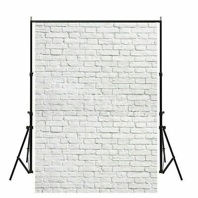US 5x7ft White Brick Wall Photography Backdrops Wedding Party Home Wall Decors