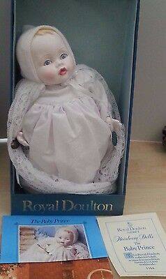 Vintage Boxed Royal Doulton Nisbet China Heirloom Doll Baby Prince Harry