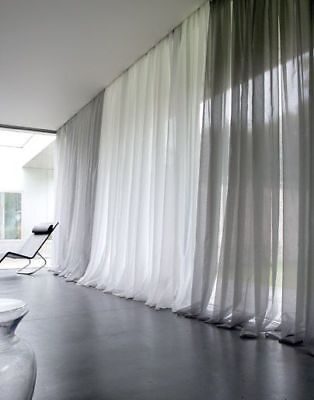 Solid Pure White Sheer Voile Window Curtain In ALL Sizes OVERSTOCK SALE!!!
