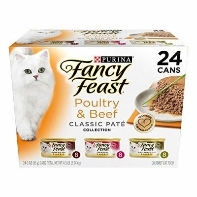 Purina Fancy Feast Classic Poultry & Beef Collection Cat Food - 24 3 oz. Cans