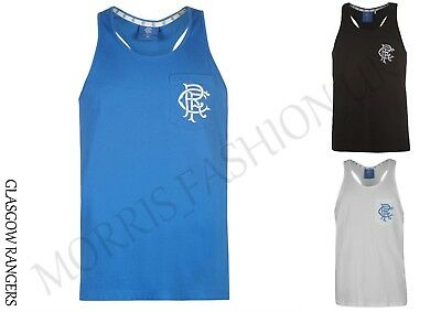 Glasgow Rangers   FC Muscle Vest Youngster Boys Tank Top Sleeveless Round 7-14