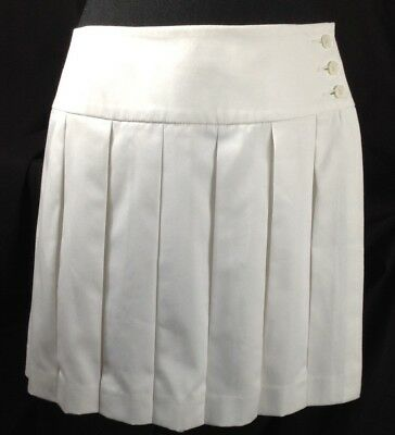 Brooks Brothers Country Club Women White Golf Tennis Skirt Skort with Shorts 10