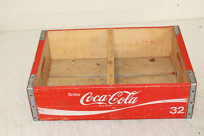 Vintage Wooden Coca Cola Bottle Crate Caddie Carrier Advertising  NICE !!! #2