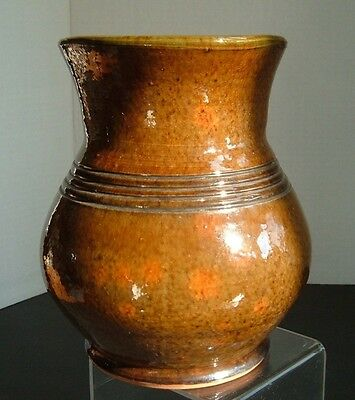 1952 Stahl Pottery Redware Large Vase - Powder Valley Pa