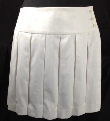 Brooks Brothers Country Club Women White Golf Tennis Skirt Skort with Shorts 12