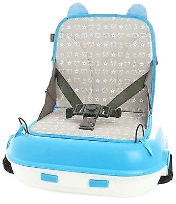 Booster Seat LiL Jumbl Carry Pack Blue Child Up To 45 Lbs Carry Everything
