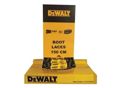 DeWalt Genuine Durable Spare Yellow & Black Safety Boots Work Boot Laces 150cm
