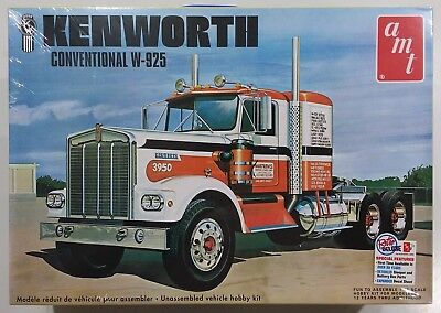 1/25 Kenworth W925 Conventional Amt Model Kit New In Box Re-Issue