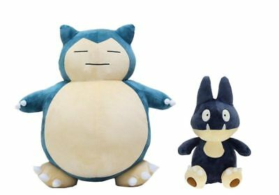 Pokemon Center Munchlax Snorlax Soft Stuffed Plush Doll Toy Set of 2 Best Gift