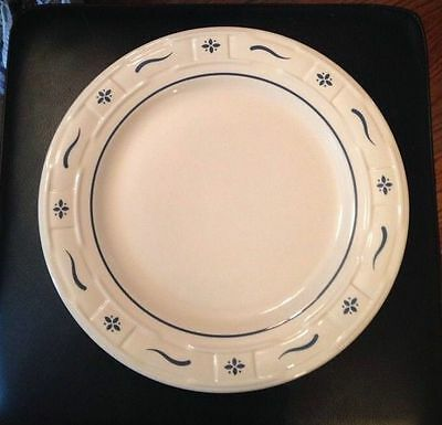 "Longaberger Woven Traditions Pottery 10"" Dinner Plate Heritage Green~EUC!"