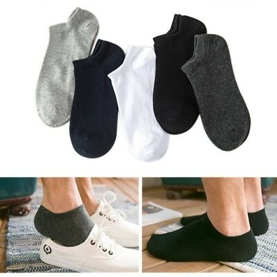 5 Pairs Mens Sports Socks Crew Ankle Low Cut Casual Soft Cotton Breathable Socks