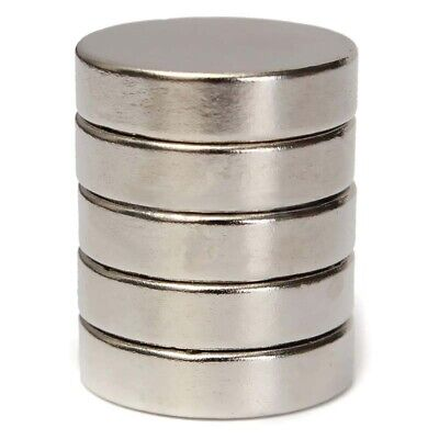 100Pcs 20x5mm N50 Rare Earth Super Strong Disc Round Cylinder Neodymium Magnets