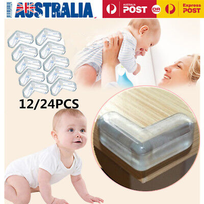 12/24PCS Table Desk Corner Edge Protector Guard Soft Safety Cover Baby Child AU