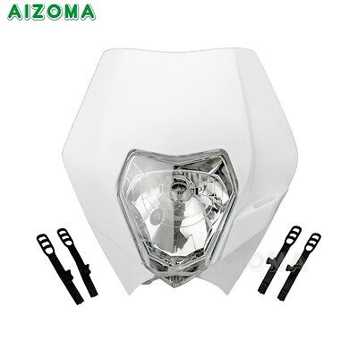 Motorcycle Dirt Bike Motocross Headlight Faring For KTM SX EXC XCF SXF White AU