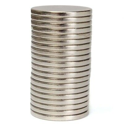 200Pcs 20x2mm Rare Earth Strong Disc Round Cylinder Neodymium N52 Hole Magnets