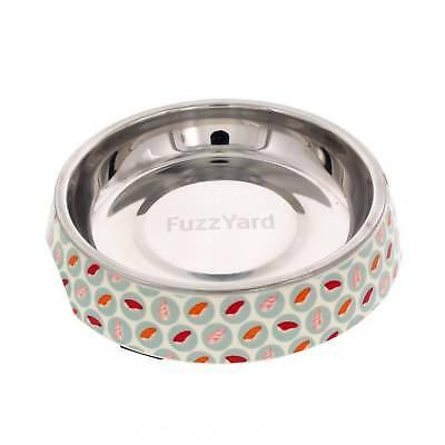 Fuzzyard Cat Bowl Sushi Delight Multi Colour With Rubber Base Melamine Design