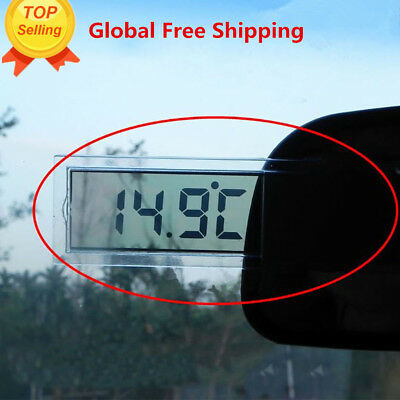LCD Digital LCD Thermometer Temperature Meter Indoor Outdoor Suction Cup SY
