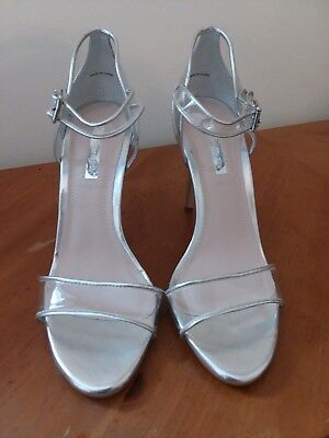 22b77b95f9a9 BCBGENERATION WOMEN S SILVER Transparent Strappy Heels -  29.95 ...