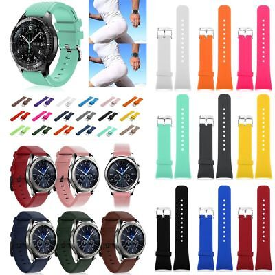Silicone Bracelet Strap Watch Band For Samsung Gear S3 Frontier/Classic 22mm UK