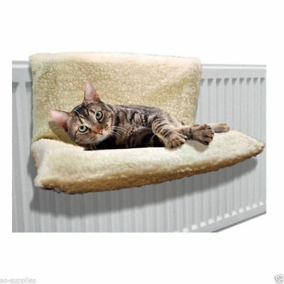60 x50cm Cat Dog Radiator Bed Warm Fleece Beds Basket Cradle Hammock Puppy Pet