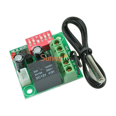 Heat Cool Temp Thermostat Digital Temperature Control Switch 20-90℃ DC 12V W1701