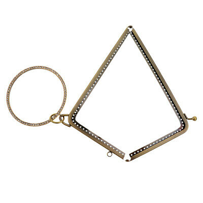 Prettyia 2Pcs Metal L Shape Sewing Coin Purse Bag Arch Kiss Clasp Frame Lock