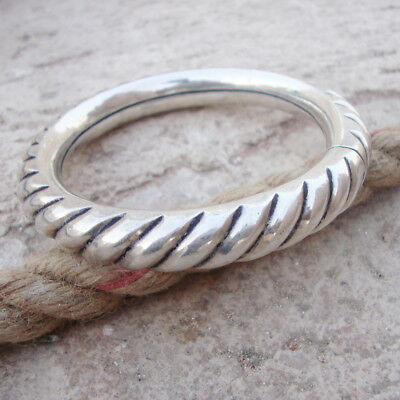 Gorgeous Antique Ethnic Tribal Sterling Silver Vintage Bangle Bracelet Jewelry