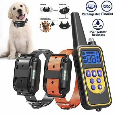 Rechargeable Pet Dog Training Shock Collar Electric 2600FT Remote Control LCD