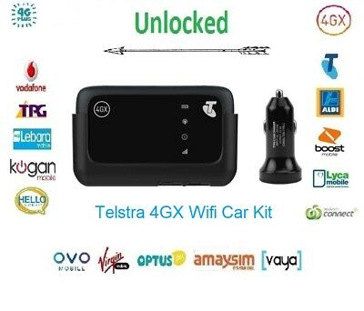 New *Unlocked* Telstra 4GX ZTE MF910V Wi-Fi Modem with Car Kit(Optus,Vodafone)