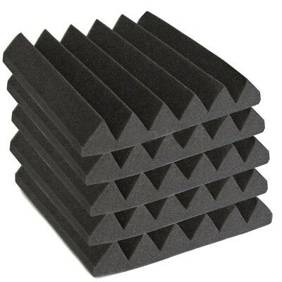 12 Pack Acoustic Wedge Studio Foam Sound Absorption Wall Panels 2 inch x 12 A6C3