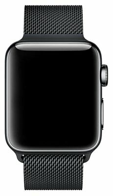 Walcase-for-Apple-Watch-Band-Fully-Magnetic-Closure-Clasp-Black-Milanese- 38mm