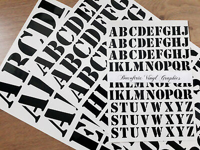 "1"" 25mm, 2"" 50mm, 3"" 75mm SELF ADHESIVE VINYL STENCIL LETTERS STICKERS DECALS"